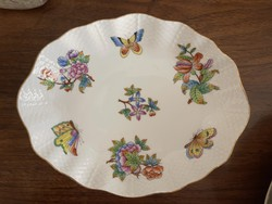 About 1 forint !!! Original Victorian patterned Herend porcelain, oval bowl.