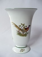 Herend hunter vase with golden pheasant