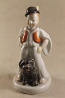 Herend shepherd boy with dog 546