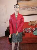 Szebbnél szebbek molett nálam szexi piros bőr zakó kis kabát 38 ősz tavasz  82 mell 65 hossz