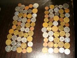 100 darab nagyon vegyes átnázetlen NSZK nyugat i keleti fémpénz érme pénzecske aprópénz lot egyben