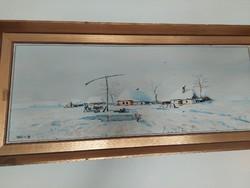 Szőcs László téli tájkép