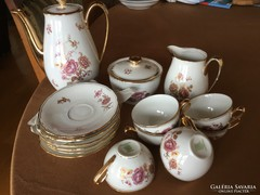 Antique Czech coffee, richly gilded, beautiful