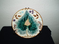 Antique-steidl znaim- leaf pattern- majolica-plate porcelain-20-cm
