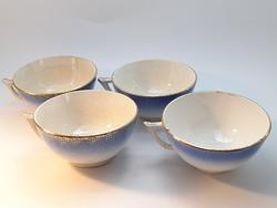Sarreguemines faience cups 4 pcs