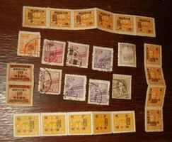26 db  Tienamen sor prc kínai bélyeg kina összefüggések Sun Yat Sen japán megszállási felülnyomás