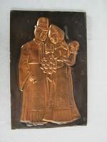 Copper picture wall ornament matyo couple