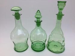 Old beverage bottle with stopper green bottle 3 pcs