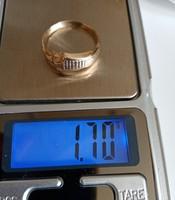 14K-os dekoratív arany gyűrű