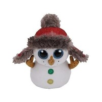 Beanie boss collectible plush snowman keychain, new
