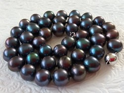Tahitian pearl necklace with 925 silver clasp