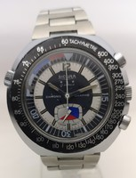Sicura (breitling) chrono graphe vintage mechanical watch serviced - with 1 year warranty