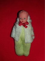 Antique tiny solid rubber doll german artur röedler industry ari original dress extreme riitka