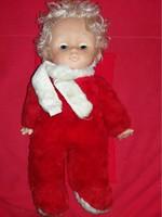 Antique rubber-faced hair rag stuffed sleeping toy baby rarity as shown 45 cm