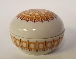 Great Plain porcelain, bonbonier, with folk retro pattern (cracked)
