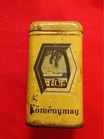 Régi fém lemez köménymag -s fűszertartó doboz tengeri Keleti  jelenettel a képek szerint 13 cm