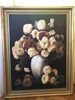 Nagyméretű - Csendélet c. festmény, szignózott 72x91 cm