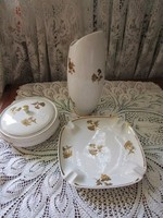 Raven house porcelain set decorated with golden roses with pictures s