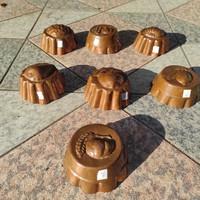 Réz kuglóf forma,sütemény, muffin jellegű sütő edény forma,konyha,cukàszat dekoráció cél gyüjtemény