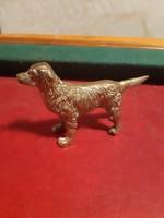 Csodás régi golden retriever réz kutya szobor