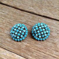 Old bijouterie clip earrings