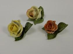 2 Herend roses, 1 aquincum rose