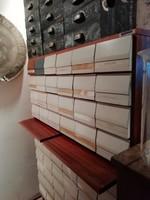 Sokfiókos kartoték szekrény, fehér hatvan fiókos szekrény