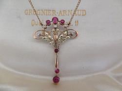 Art Nouveau gold collie / necklace / necklace