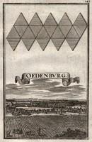 Sopron antik rézmetszet 1698 -ból