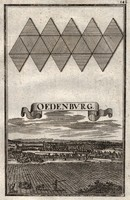 Sopron antique copper engraving from 1698