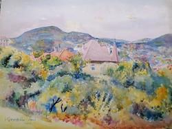 Koronthály Jenő (1883-) Akvarell