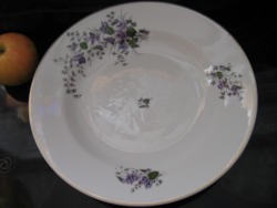 Large antique violet wall plate