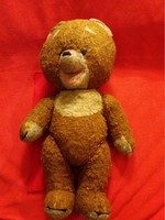 Hands stuffed with antique rag and straw feet head moving teddy bear teddy bear as shown 44 cm