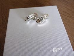 Ezüst színű fülklipsz