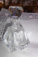 Lapra csiszolt  üveg palack  csiszolt dugóval .