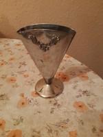 Érdekes régi svéd ezüstözött váza