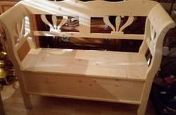 Arm chest, arm bench, opening chest garden furniture 120 cm