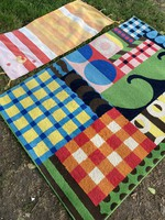Retro vintage cheerful ikea design rug middle rug + gift with a hand-knotted rug