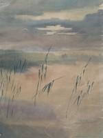 Pirk János- Balatonlelle,1960 - eredeti festmény, garanciával - 1 forintról csak 1 hétig!