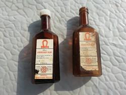 Athenstaedt oldat, gyógyszeres üveg palack, 2db