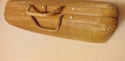 Bamboo wicker box bag