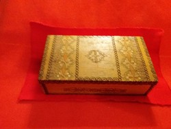 Old table shelf decoration russian cccp card / wooden gift box painted burnt scratch according to pictures 22 x12 cm