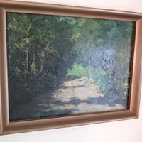 József Radnay: sunny forest road