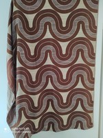 Retro patterned blinds are a couple long.