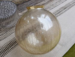 Fractured glass sphere lampshade, lamp, chandelier shade 25 x 23 cm