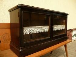 Very nice original antique art deco wall showcase / cabinet