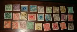 27 darab nagyon korai csehszlovák kb 1918 1920 körüli hradkany doplatit stb bélyeg lot egyben