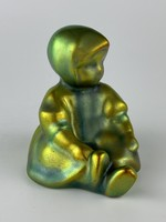 Zsolnay porcelain figurine - annuska - eosin
