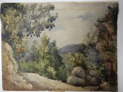 Hungarian painter, landscape, watercolor