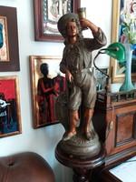 Bacchus -ra ......! Antique majolica statue! / M: 66 cm! /